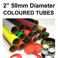 """2"""" (50mm) Diameter Coloured Postal Tubes"""