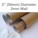 """19"""" Long EXTRA STRONG Postal Tubes (A2 Size) - 480mm x 50mm 2MM WALL"""