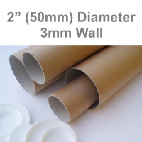 "17.5"" Long SUPER STRONG A2 Postal Tubes - 450mm x 50mm 3MM WALL"