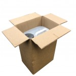"5L 5 Litre Liquid Container Cardboard Postal Boxes  (191mm x 140mm x 292mm) 7.5"" x 5.5"" x 11.5"" Double Wall Corrugated Cartons - DWGAL1"