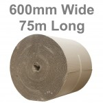 600mm Wide Single Face Corrugated Paper Rolls
