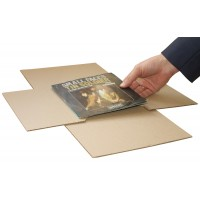 "7"" MusicMax TWISTS Adjustable Record Mailers - Strongest BULK Vinyl Mailers"