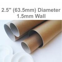 "13"" Long (A3 Size) Postal Tubes - 330mm x 63.5mm"