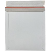 """7"""" White All Board Record Mailers / Envelopes  - 195mm x 195mm"""