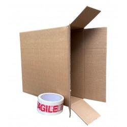 """305mm x 100mm x 320mm (12"""" x 4"""" x 12"""") Cardboard Postal Boxes - FOL12412"""
