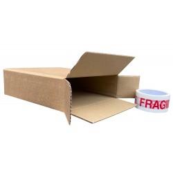 """225mm x 75mm x 240mm (9"""" x 3"""" x 9"""") Cardboard Postal Boxes - FOL939"""