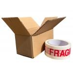 "140mm x 90mm x 80mm (5.5"" x 3.5"" x 3.1"") Corgi & Dinky Model Cardboard Postal Boxes - FOL533"