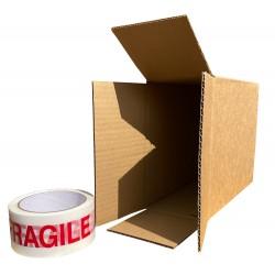 """185mm x 98mm x 226mm (7"""" x 3"""" x 8"""") Cardboard Postal Boxes - FOL738"""