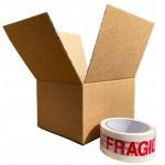 """215mm x 150mm x 110mm (8.47"""" x 5.9"""" x 4.3"""") Cardboard Postal Boxes - FOL854"""
