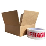"170mm x 170mm x 60mm (6"" x 6"" x 3"") - Shallow Square Cardboard Postal Boxes - SW663"