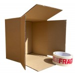 "220mm x 220mm x 125mm (8"" x 8"" x 4"") -  Shallow 8"" Square Cardboard Postal Boxes - SW884's"