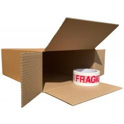 """254mm x 127mm x 356mm (10"""" x 5"""" x 14"""") Cardboard Postal Boxes - FOL10514"""