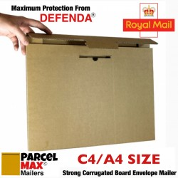 C4 / A4 ParcelMax Mailers - Royal Mail Large Letter Qualifying Corrugated Mailer (233mm x 320mm x 11mm)