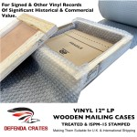 "12"" LP Vinyl Record Mailers Wooden Mailing Cases"