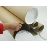 "4 x 47"" (1200mm) Long x 10"" (254mm) Diameter Cardboard Postal Tubes (3mm Wall)"