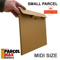 MIDI ParcelMax Mailers - Royal Mail  Small Parcel Qualifying Corrugated Mailer (325mm x 330mm x 15mm)