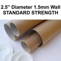 "2.5"" (63.5mm) Diameter Postal Tubes"
