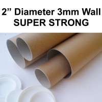 """2"""" (50mm) Diameter SUPER STRONG Postal Tubes (3mm Wall Thickness)"""