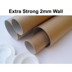 """14"""" (355mm) Long EXTRA STRONG 3"""" (76mm) Diameter (A3 Size) Postal Tubes (2mm Wall Thickness)"""
