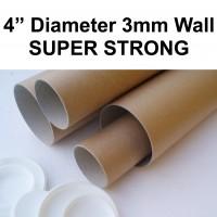 """4"""" (101.6mm) Wide Diameter Cardboard Postal Tubes"""
