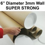"6"" (152.4mm) Large Diameter Cardboard Postal Tubes"