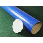 "Blue Postal Tubes  - 3"" (76mm) Diameter"