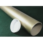 "Gold Postal Tubes  - 3"" (76mm) Diameter"