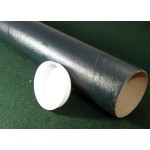 "Black Postal Tubes  - 3"" (76mm) Diameter"