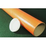 "Orange Postal Tubes  - 3"" (76mm) Diameter"
