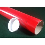 "Red Postal Tubes  - 3"" (76mm) Diameter"