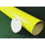 "Yellow Postal Tubes  - 3"" (76mm) Diameter"