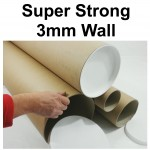 "14"" (355mm) Long x 4"" Wide Diameter (A3+) Cardboard Postal Tubes"