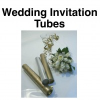 "Wedding Invitation Tubes - 1.5"" (38mm) Diameter"