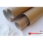 "5 x 88.5"" (2250mm) Long x 2.5"" (63.5mm) Diameter Cardboard Postal Tubes (3mm Wall)"