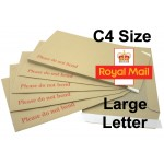 "C4 / A4 Board Backed Envelopes (324mm x 229mm 12.75"" x 9"" appx)"