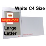 "C4 / A4 WHITE Board Backed Envelopes (324mm x 229mm 12.75"" x 9"" appx)"