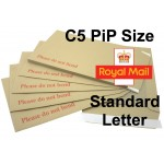 "C5 / A5 PiP Board Backed Envelopes (238mm x 163mm 9.37"" x 6.42"" appx)"