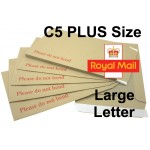 "C5 / A5 PLUS Board Backed Envelopes (241mm x 178mm 9.5"" x 7"" appx)"