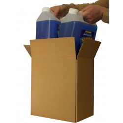 5L 5 Litre x2 Liquid Container Cardboard Postal Boxes (278mm x 190mm x 289mm) Double Wall Corrugated Cartons - DWGAL2