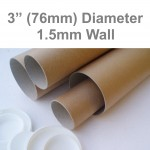 "9.4"" Long (A4 Size) Postal Tubes - 240mm x 76mm"