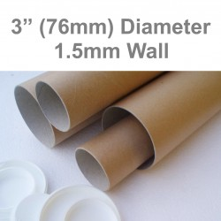 "13"" Long (A3 Size) Postal Tubes - 330mm x 76mm"