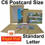"C6 / A6 PiP Board Backed Envelopes (190mm x 140mm 7.48"" x 5.5"" appx)"