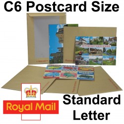"""C6 / A6 PiP Board Backed Envelopes (190mm x 140mm 7.48"""" x 5.5"""" appx)"""