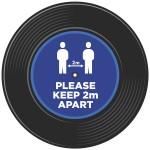 Vinyl Record Style COVID-19 Vinyl Floor Stickers