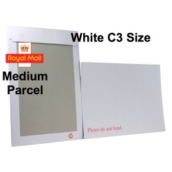 "WHITE C3 / A3 Board Backed Envelopes (457mm x 324mm 18"" x 12.75"" appx)"
