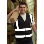 1 x Black High Visibility Vests / Waistcoats