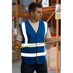 1 x Royal Blue High Visibility Vests / Waistcoats