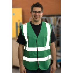 1 x Emerald Green High Visibility Vests / Waistcoats