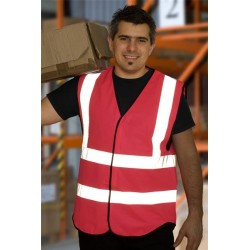 1 x Pink High Visibility Vests / Waistcoats