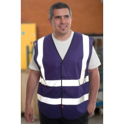 1 x Purple High Visibility Vests / Waistcoats